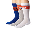 Nike - Dri-FIT Crew Sock 3-Pair Pack (White/Game Royal/Total Orange/Game Royal/Total Orange/Grey Heath)