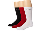 Nike - 3 Pair Pack Dri-Fit Cushion Crew (Gym Red/White White/Flint Grey Black/Flint Grey)