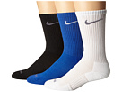 Nike - 3 Pair Pack Dri-Fit Cushion Crew (Game Royal/White/White/Flint Grey/Black/Flint Grey)