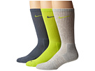 Nike - 3 Pair Pack Dri-Fit Cushion Crew (Cyber/Armory Slate/Grey Heather/Cyber/Armory Slate/Cyber)