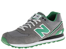 New Balance Classics ML574 Stadium Jacket Light Grey, Green Gecko Shoes