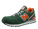 New Balance Classics ML574 Stadium Jacket Green, Orange Shoes