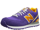 New Balance Classics ML574 Stadium Jacket Purple, Yellow Shoes