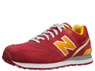 New Balance Classics ML574 Stadium Jacket Red, Yellow Shoes