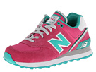 New Balance Classics WL574 Stadium Jacket Pink Shoes