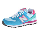 New Balance Classics WL574 Hologram Pack Blue, Pink Shoes