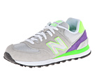 New Balance Classics WL574 Hologram Pack Light Grey, Green Gecko Shoes