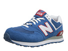 New Balance Classics M574 Blue, Red, White Shoes