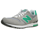 New Balance Classics ML565 Light Grey, Green Gecko Shoes