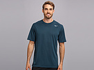 Nike Legend Dri-FIT Poly S/S Crew Top (Nightshade/Carbon Heather/Matte Silver) Men's Short Sleeve Pullover