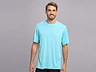 Nike Legend Dri-FIT Poly S/S Crew Top (Polarized Blue/Carbon Heather/Matte Silver) Men's Short Sleeve Pullover