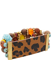 Betsey Johnson - Leopard Leather Multi Bracelet