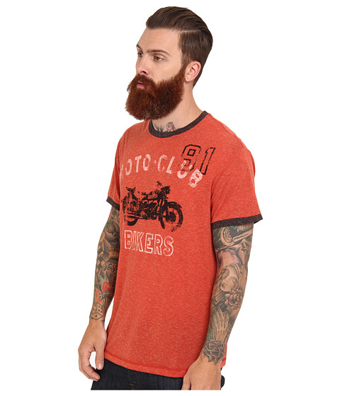 Silver jeans co s s crew neck t shirt orange for Silver jeans t shirts