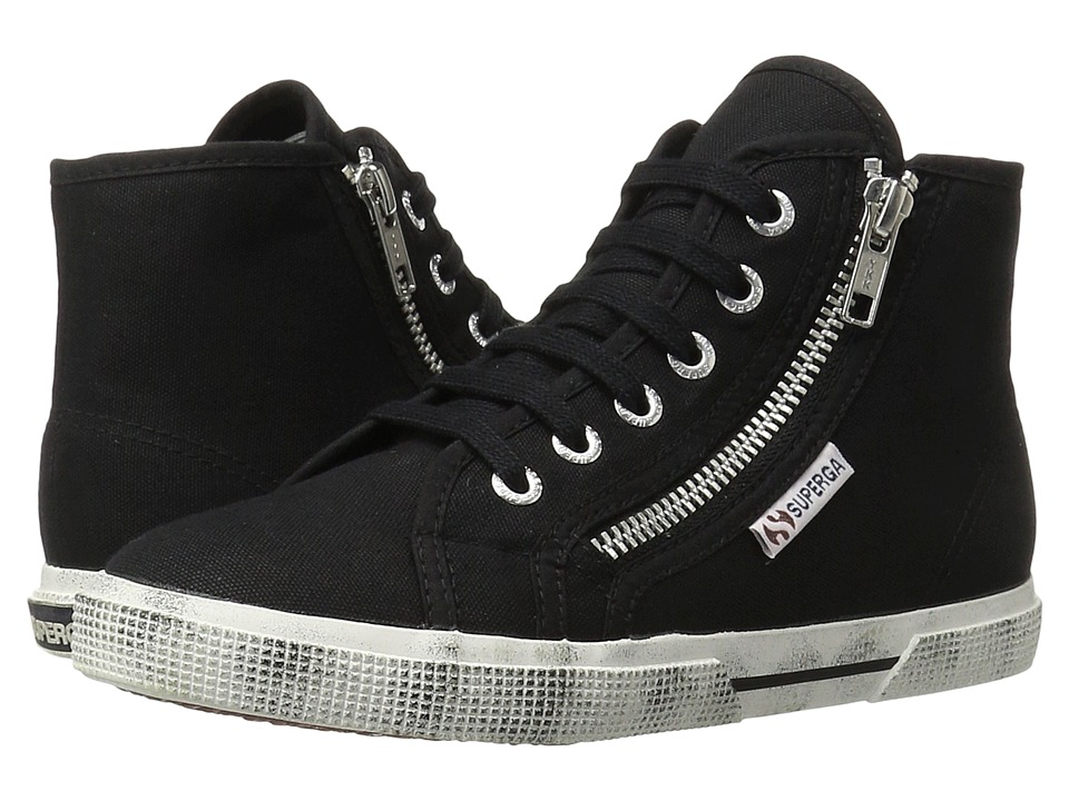 Superga 2224 Cotdu Black Womens Lace up casual Shoes