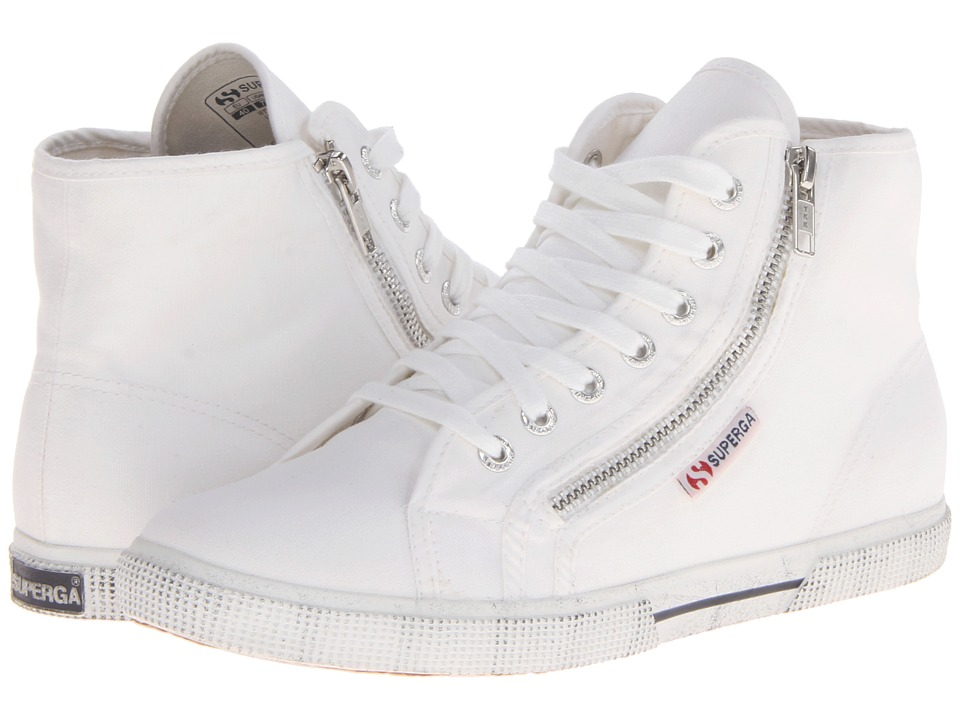 Superga 2224 Cotdu White Womens Lace up casual Shoes