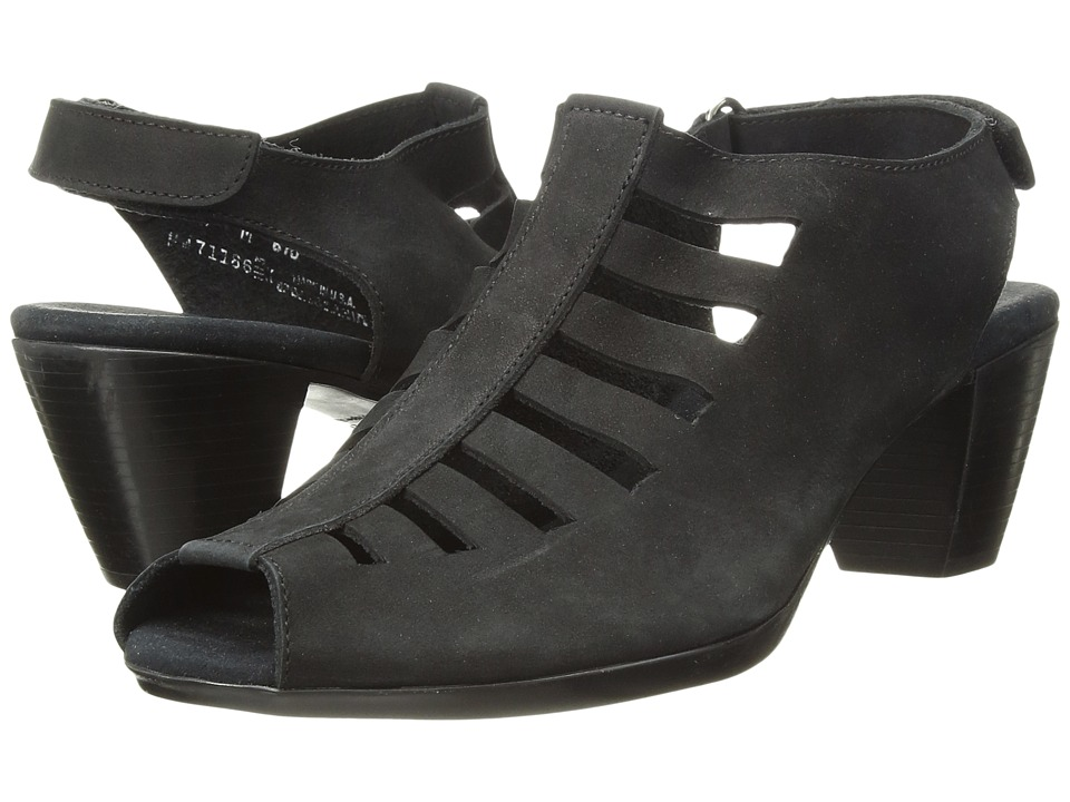 Munro American Abby Black Nubuck Womens Shoes