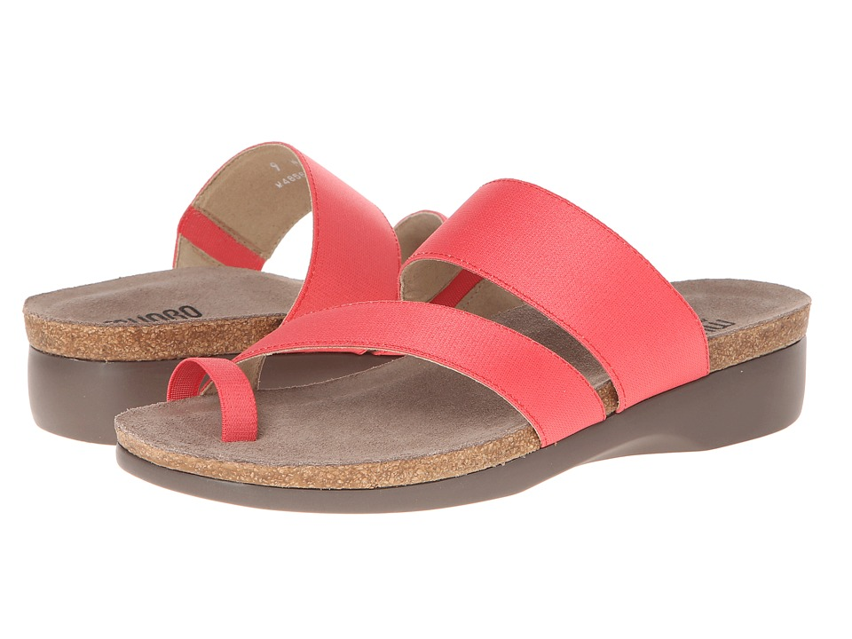Munro American Aries Coral Fabric Womens Sandals