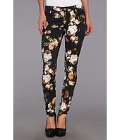 7 For All Mankind - The Skinny w/ Contoured Waistband in Night Time Floral