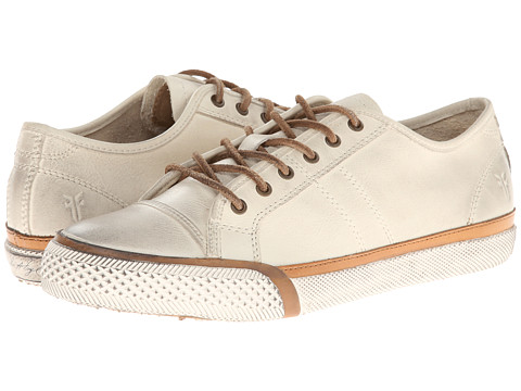 Shop Frye online and buy Frye Greene Low Lace Off White Soft Vintage Leather Shoes - Frye - Greene Low Lace (Off White Soft Vintage Leather) - Footwear: The Greene Low Lace from Frye has a classic look constructed with a stylishly durable leather that will last you many seasons to come. ; Low-top leather sneaker. ; Soft vintage leather upper with a burnished finish. ; Traditional lace-up system with metal eyelets for a secure fit. ; Soft canvas lining. ; Lightly cushioned leather insole for all-day comfort. ; Durable vulcanized rubber outsole with a worn-in finish. ; Imported. Measurements: ; Weight: 12 oz ; Product measurements were taken using size 8.5, width B - Medium. Please note that measurements may vary by size.