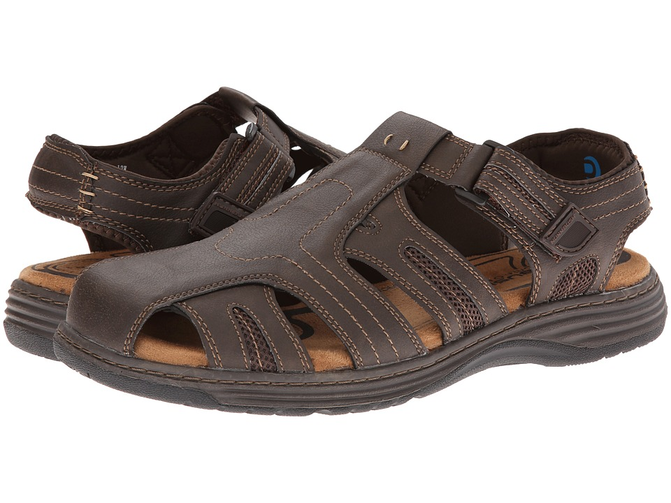 Nunn Bush Ripley Closed-Toe Fisherman Sandal (Brown Crazy Horse) Men