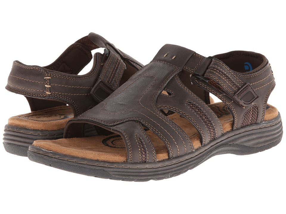 Nunn Bush - Ritter Open-Toe Fisherman Sandal (Brown Crazy Horse) Men