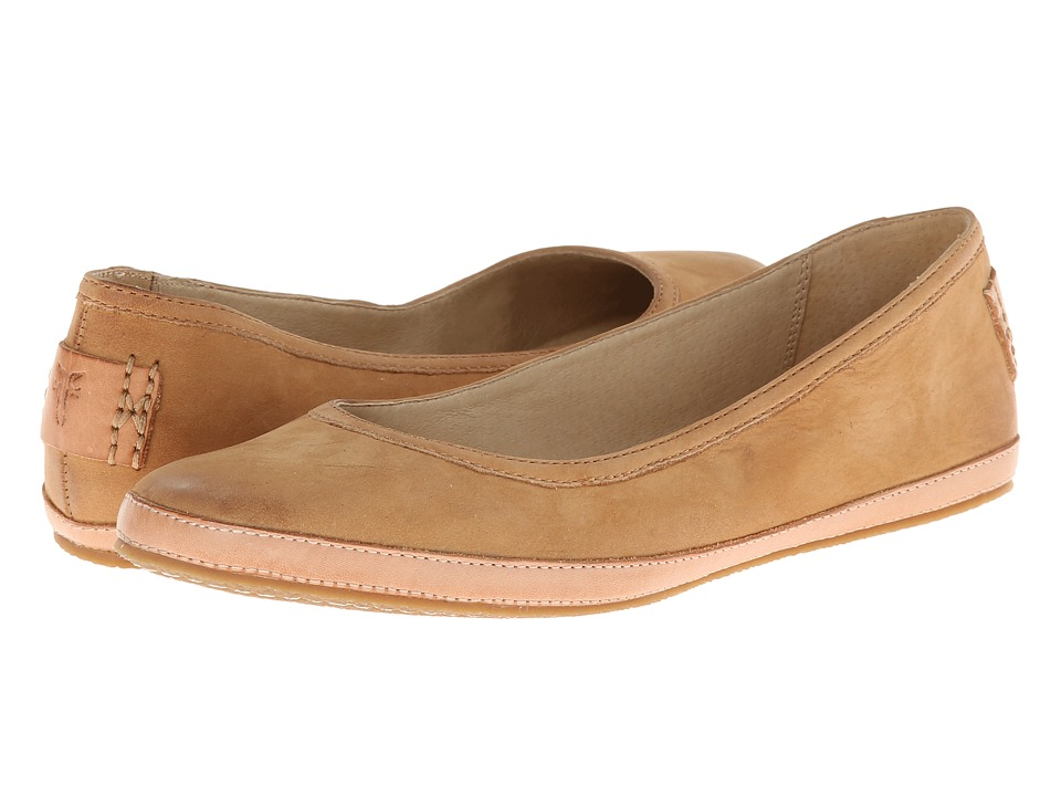 Shop Frye online and buy Frye Tegan Ballet Natural Buffed Nubuck Womens Shoes online