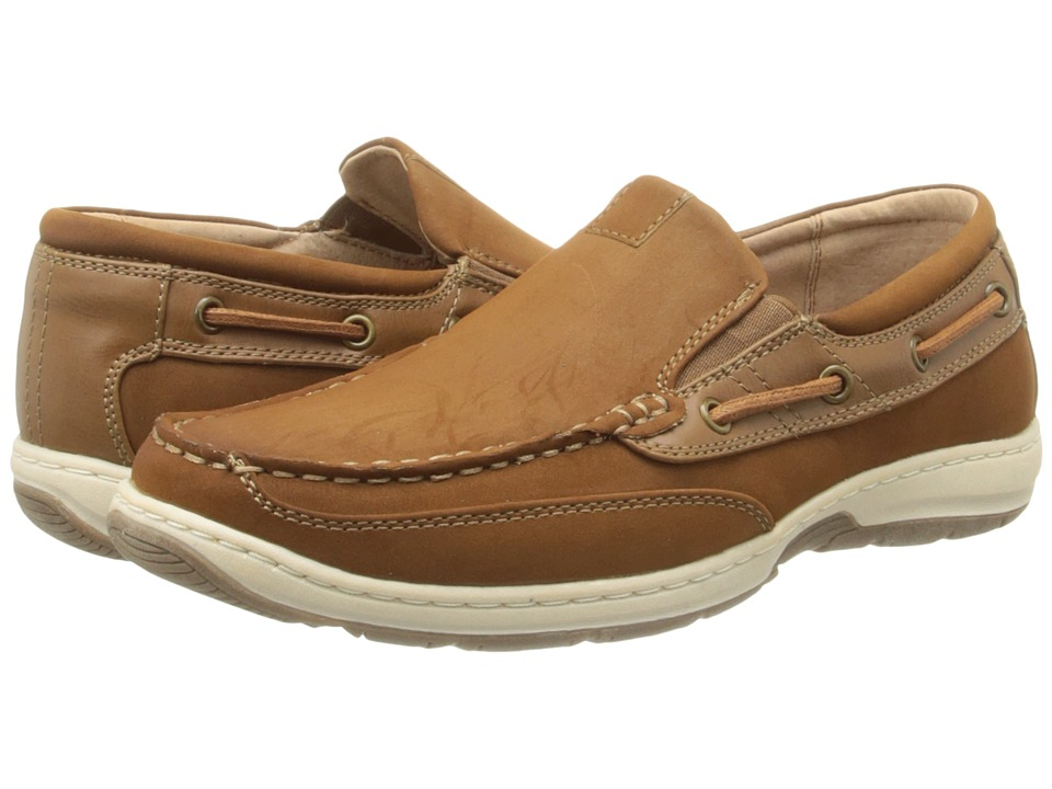 Nunn Bush - Outboard Moc Toe Slip-On Boat Shoe (Oak) Men
