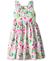 Oscar de la Renta Childrenswear - Evora V-Back Dress with Ruffle (Toddler/Little Kids/Big Kids)