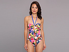 Gabriella Rocha - Betty One-Piece Swimsuit (Beach Blue Floral) - Apparel<br />