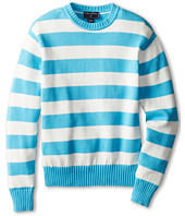 Oscar de la Renta Childrenswear - Cotton Stripe Crew Neck Pullover (Toddler/Little Kids/Big Kids)