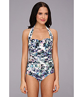 Badgley Mischka - Fiona Shirred Halter Maillot