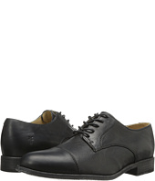 Frye Harvey Cap Toe Black Soft Vintage Leather