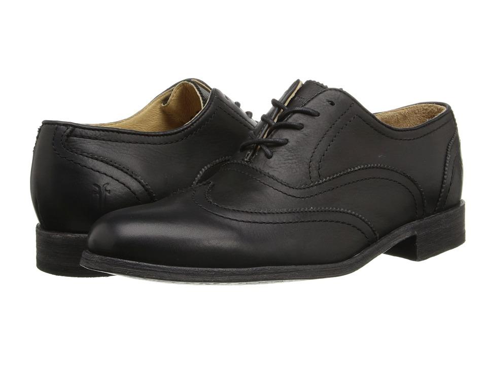 Frye - Harvey Wingtip (Black Soft Vintage Leather) Men