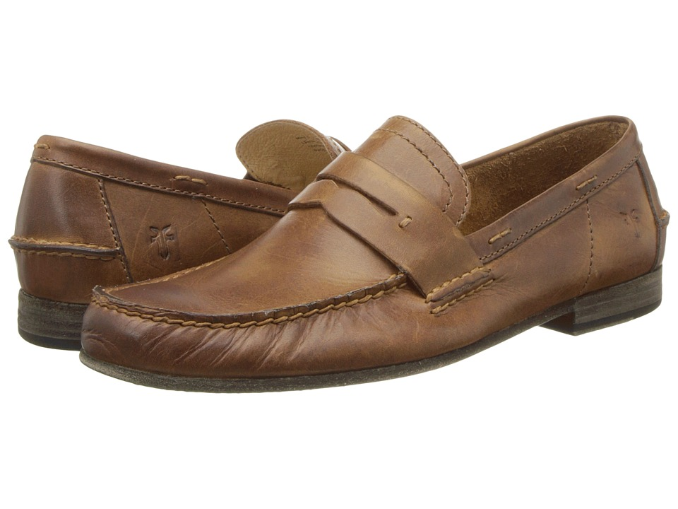 Frye - Lewis Leather Penny (Tan Antique Pull Up) Men