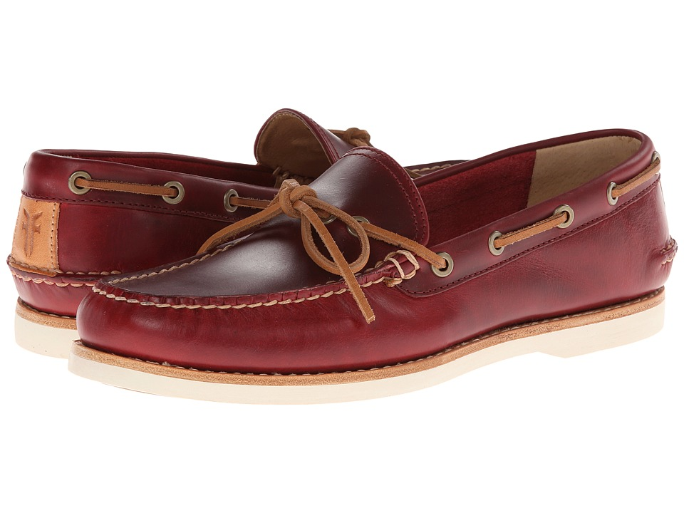Frye - Sully Tie (Burgundy Smooth Pull Up) Men
