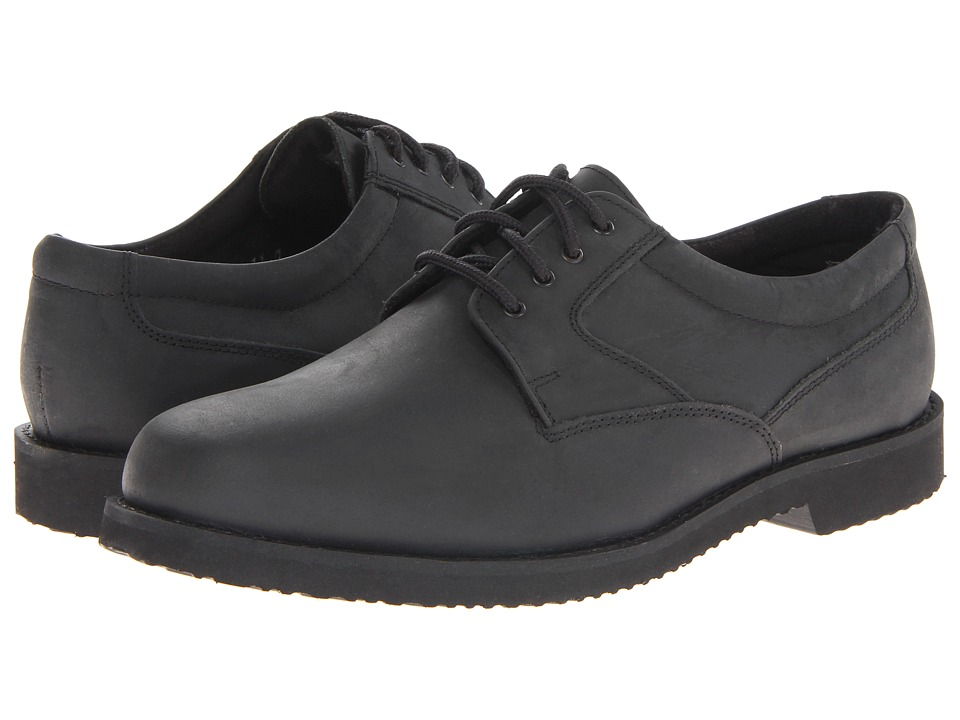 Nunn Bush Bloomington Plain Toe Oxford Lace-Up (Black Smooth) Men