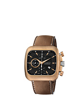 Gucci - Coupe 44mm Automatic Chronograph Leather Strap Watch-YA131205