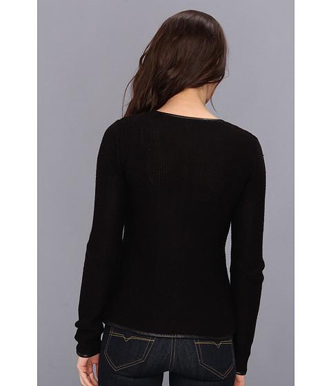 search calvin klein moto sweater jacket w polyurethane black. Black Bedroom Furniture Sets. Home Design Ideas