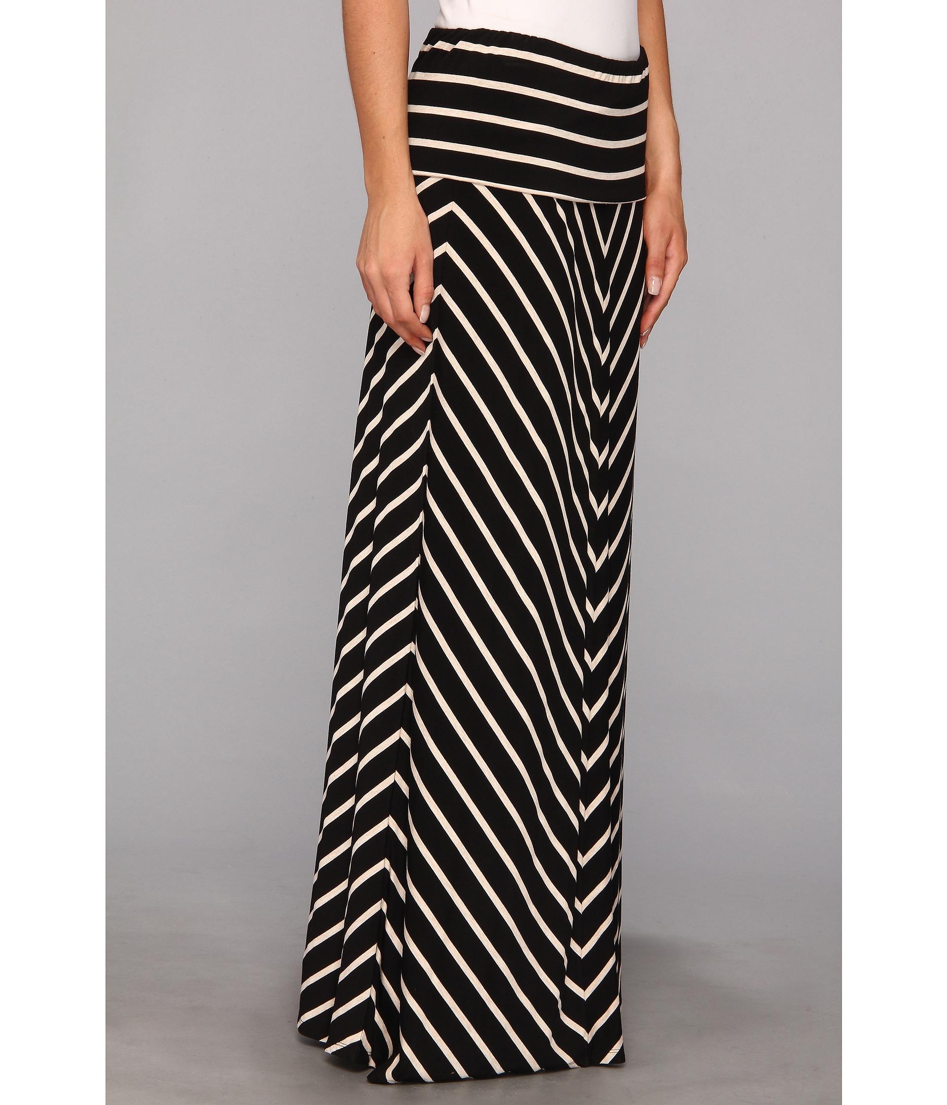 calvin klein stripe maxi skirt shipped free at zappos