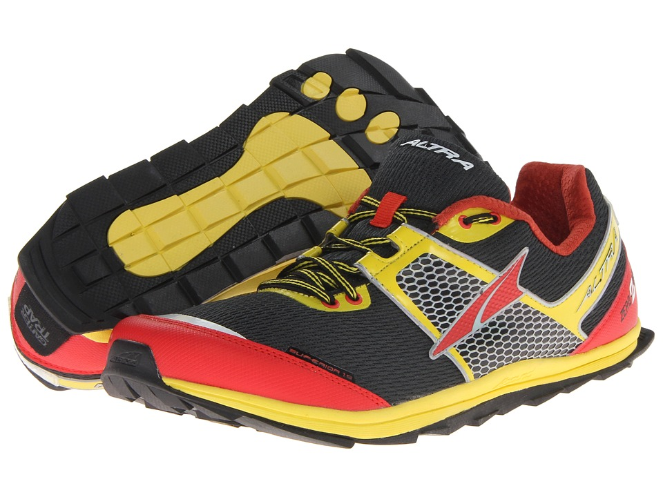 Altra Zero Drop Footwear Superior 1.5 (Black/Lemon Chrome/Fiery Red) Men's Running Shoes