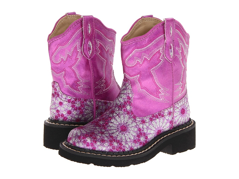 Roper Kids Bling Chunks Toddler/Little Kid Pink Cowboy Boots