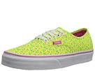 Vans - Authentic ((Ditsy Floral) Neon Yellow/Azalea Pink) -