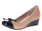 Cole Haan - Air Tali Lace Wedge (Sandstone/Black Patent) - Footwear