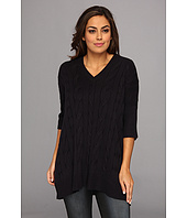 MICHAEL Michael Kors - Plus Size Cable V-Neck Poncho