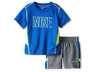 Nike Kids - Nike N45 Mesh Short Set (Toddler) (Cool Grey) - Apparel