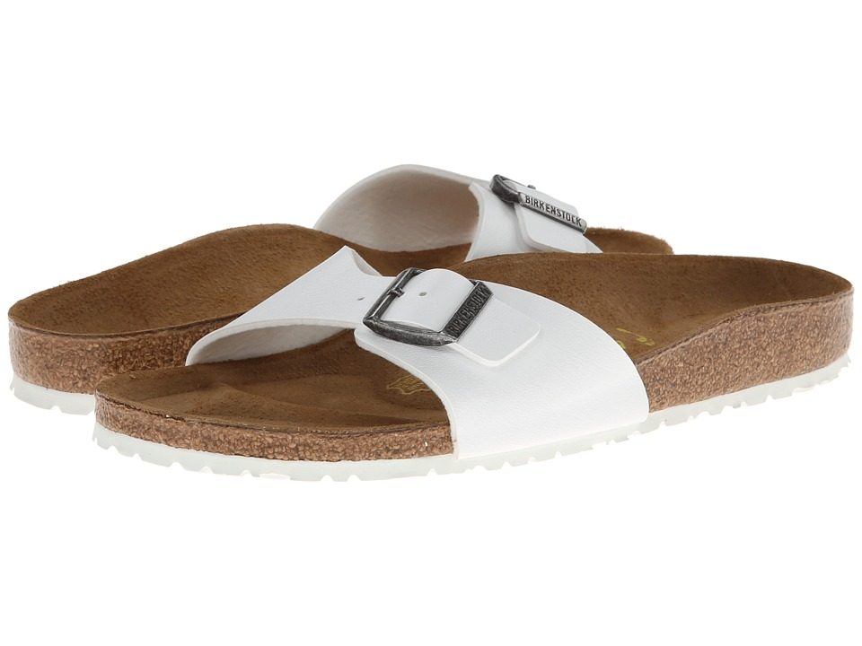 Birkenstock Madrid White w/ White Sole Womens Slide Shoes