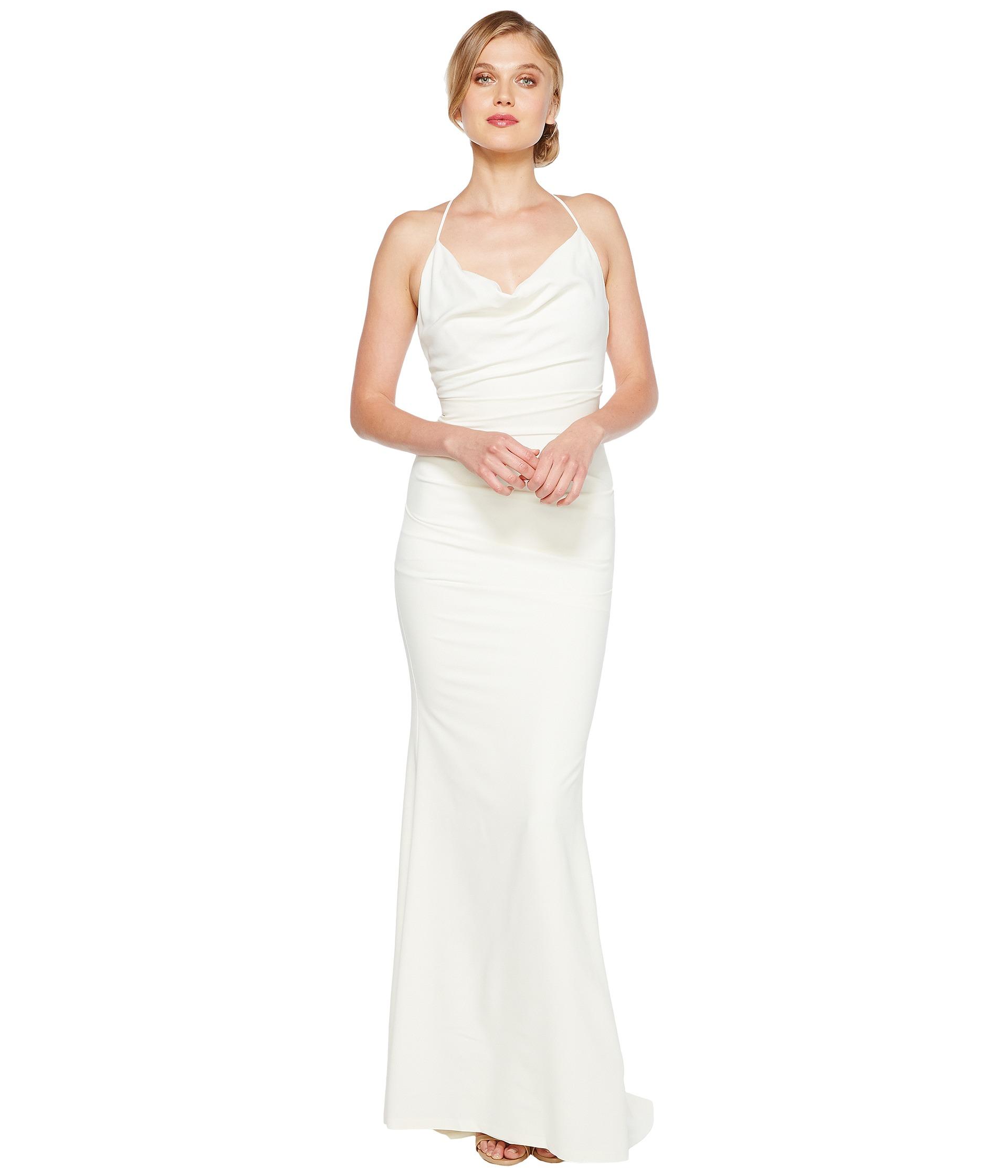 criss cross straps wedding dress spaghetti strap wedding dress Nicole Miller Tara Bridal Gown