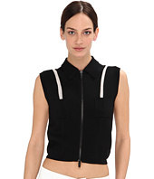 Armani Jeans - Front Zipper w/ Shoulder Detail Vest