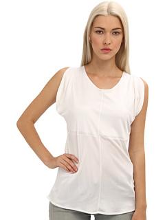 Armani Jeans Silk Cap Sleeve Blouse White