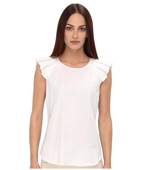 White Short Sleeve Ruffle Blouse 26
